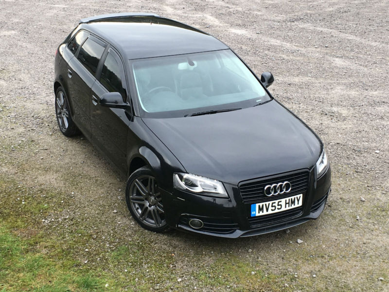 audi a3 1 9tdi sportback 2005 s line spec black edition replica px swap swop in accrington. Black Bedroom Furniture Sets. Home Design Ideas