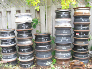"14"" & 15"" GM &Trailer rims.Many GM & some Honda rims"