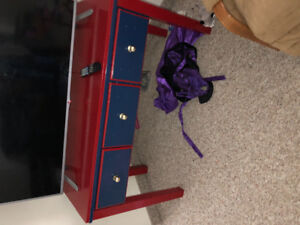 Solid wood tv trolly with three draws