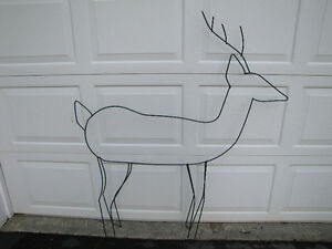 Christmas decoration- wire Deer, tree + candy canes