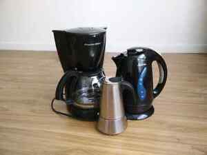 Coffee makers + kettle