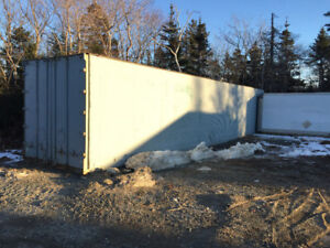 Commercial storage. 40' and 14' containers with parking