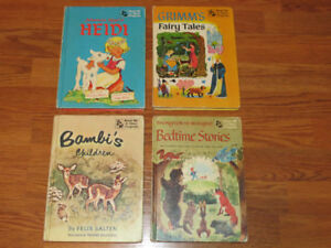 Vintage Children's Double Sided Book Lot 1950's Hardcover