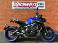 YAMAHA MT-09 2019 19 REG 3,067 MILES BLUE USED MOTORCYCLE 847CC