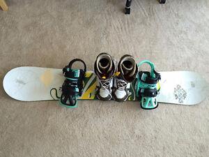 Burton Custom 162 Snowboard, Burton Cartel Bindings, and Boots!