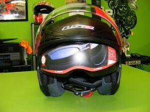 3/4 Helmet with Sunvisor - Matte or Gloss Black at RE-GEAR Kingston Kingston Area image 2
