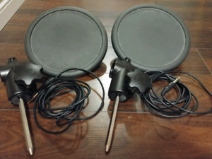 Two Yamaha TP65 Electric Drum Pads
