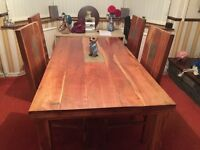 Farmhouse style large table and chairs