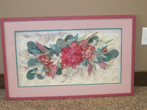 Beautiful special made floral picture for sale