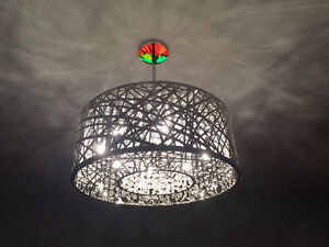BNIB Chrome Laser-Cut Chandelier -- Kuzco Model 410108