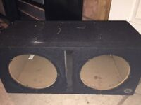 "2 X 10"" Bassworx sub box"