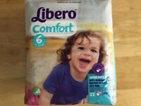 Brand New - Libero Size 6 Nappies - Pack of 22 - Multiple packs available