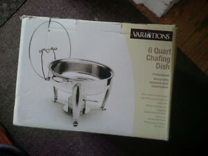 6 quart chafing dish - never used
