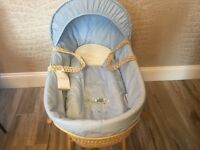 NEW - Clair de Lune Moses Basket and Stand