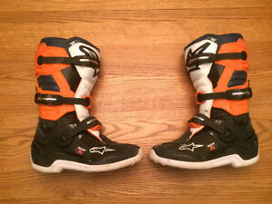 Alpinestars Youth Tech 7S Motocross Boots Size 7