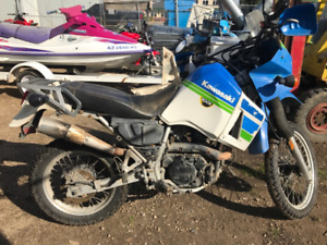 1993 KAWASAKI KLR 650 FOR PARTS  BLOWN ENGINE