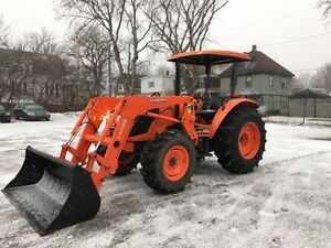 2015 KUBOTA M7040SUHD WITH LOADER FOR SALE!!
