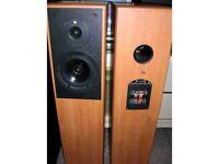 kef cresta and jbl monitor speakers