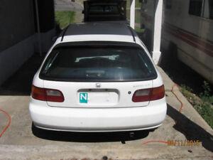 1993 Honda Civic Hatchback Reduced