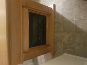 Meuble foyer électrique en bois