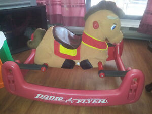 Rocking horse and jumping