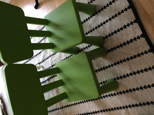 Malmut chairs in green