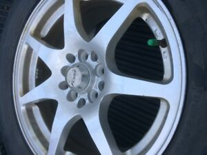 4 Alloy Fast Universal wheels with Snow tires