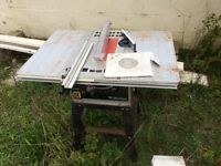 Wickes table saw and stand