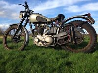 BSA ZB32 1952 350cc COMPETITION ALLOY PLUNGER TRIALS