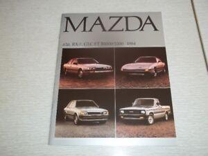 BROCHURE AUTO MAZDA 1984