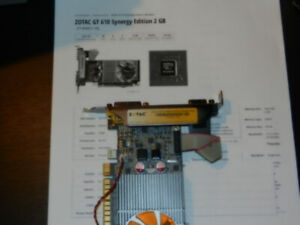 Zotac 610 synergy 2gb Nvida graphics card for multiple monitors