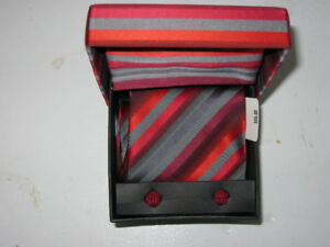 Tie and cuff links gift box set (new, price tag $35)