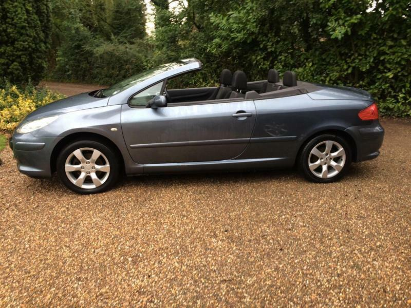 2006 06 peugeot 307 cc 1 6 petrol 16v coupe s convertible grey in bromsgrove worcestershire. Black Bedroom Furniture Sets. Home Design Ideas