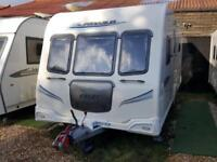 2010 Bailey Pegasus 554 4 Berth Fixed Transverse Island Bed End Washroom Caravan