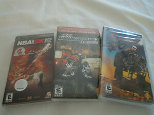 PSP - (3) Various Games - (2) of (3) are sealed