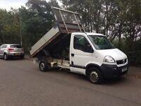 57 reg Vauxhall Movano 2.5 CDTi Tipper dropside NO VAT