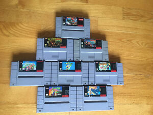 Assorted Super Nintendo Games