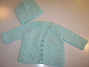 New Baby Sweater & Hat Set