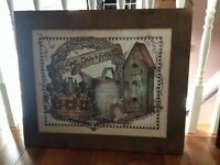 Picture in a Rustic Wood Frame