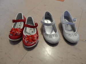 White heel girl shoes size 6,Red one size 17