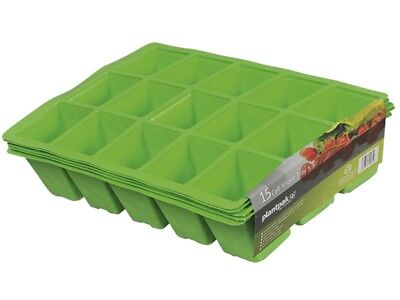 Plantpak PPK70200011 Seed Tray Inserts 15 Cell (22 x Packs of 5) FREE POST