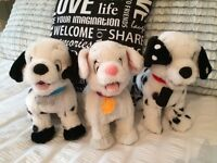 Disney 102 Dalmations puppies soft toys x3