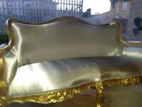 Rococo French Sofa in Gold.