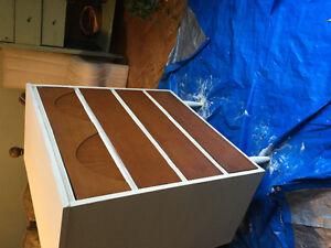 Vintage 60's dovetail carpentry dresser Way cool solid hardwood