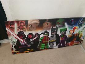 DC vs Lego mash up Canvas