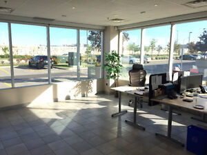 Main Floor Corner Office Retail Space All Inclusive Furnished