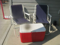 COLEMAN COOLER/CHAIRS