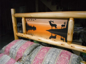 Beautiful Queen Size Rustic Cedar Log Bed - One of a Kind