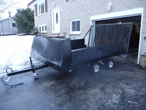 Utility trailer  4 X 8  AND 9 ft 6 in x 7 ft with ramp and tilt