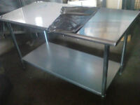 NEW 6x2.6 ft Stainless Steel Work Table!Food truck,cafe etc